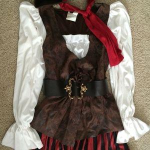 Pirate Buccaneer Wench Dress Halloween Costume